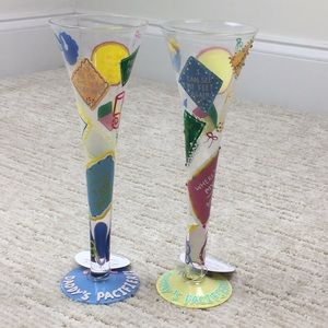 New Mommy & Daddy Champagne Flutes Hand Painted